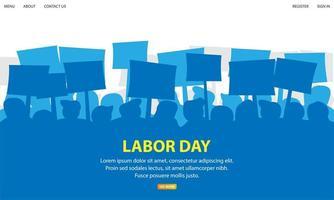Festa dei lavoratori. concetto di dimostrazione vettore