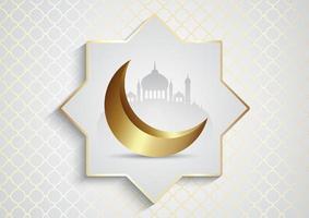 Ramadan Kareem con moschee vettore