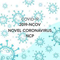 sfondo blu coronavirus vettore