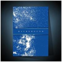poster blu con schizzi di vernice bianca