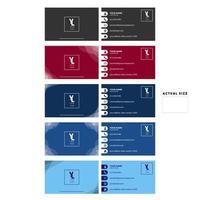 set di biglietti da visita rosso, blu e grigio