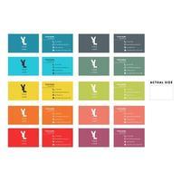 semplice set di biglietti da visita colorati
