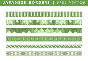 Confini giapponesi vettoriali gratis