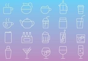 Linea icone di bevande