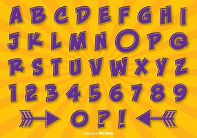 Set di alfabeto di stile comico