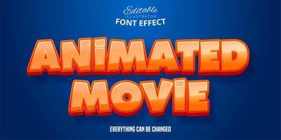 effetto testo film animato vettore