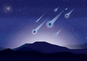 vettore di pioggia di meteore