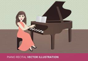 Illustrazione di vettore di recital del piano