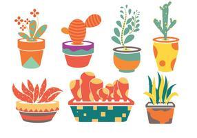 Vettori di fiori di piantatrice