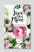felice festa della mamma design creativo del poster