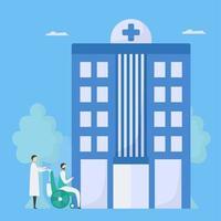 paziente che arriva all'ospedale vettore
