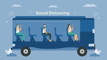 distanza sociale sui trasporti pubblici