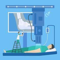 scansione medica con raggi x vettore
