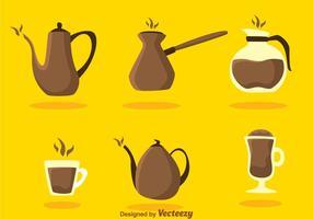 Icone del caffè vettoriale