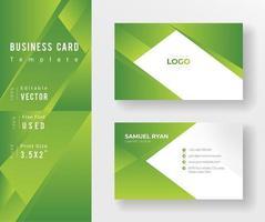 modello verde del biglietto da visita di progettazione di angolo di pendenza