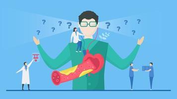 concetto di aterosclerosi con paziente confuso vettore