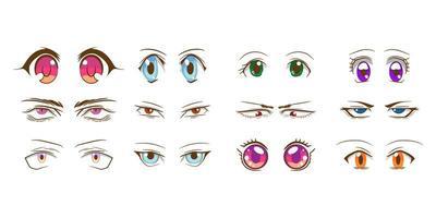 raccolta di occhi di cartone animato vettore