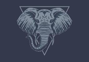 testa di elefante blu vettore