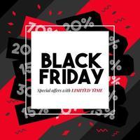 banner di vendita quadrato nero venerdì