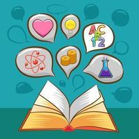 libro e design di apprendimento vettore