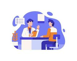 consulenza medico con il paziente vettore