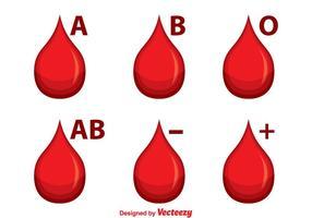 Gruppo di icone di sangue vettore