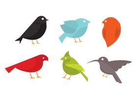 Insieme vettoriale di uccelli