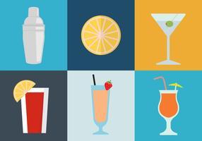 Icone del cocktail vettore