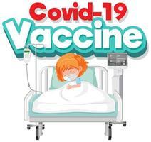 poster del vaccino covid-19 vettore