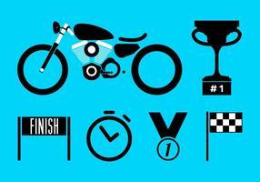 Illustrazione vettoriale di moto da corsa