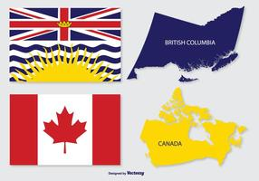 Mappa della Colombia britannica e del Canada vettore