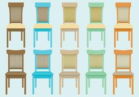 Vettori di sedia di vimini