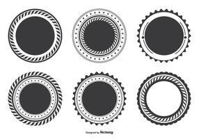 Set di forme vuote vettore