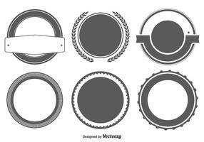 Set di forme vuoto badge / etichette vettore