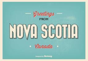 Illustrazione di saluti della Nuova Scozia vettore