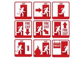 Vettore dell'uscita di emergenza