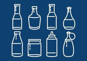 Contorno di salsa di bottiglia