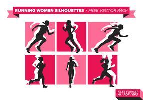 Esecuzione di donne Silhouette vettoriali gratis Pack