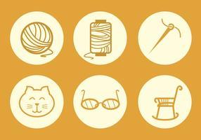 cucire icona vettoriale