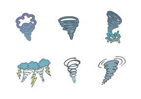 Serie di tornado vettoriali gratis