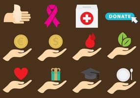 Carità e donazione vettore