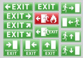 Segno di uscita di emergenza vettore