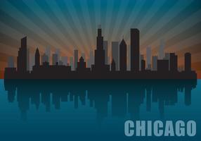 Skyline di Chicago vettore
