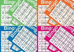 Sfondo di carta di bingo vettore
