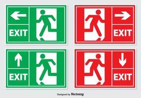 Set di segni di uscita di emergenza