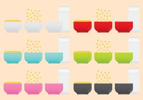 Ciotole di cereali vettore