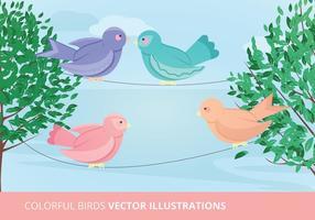 Illustrazione vettoriale di uccelli