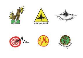 Serie di terremoti vettoriali gratis