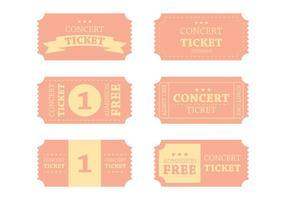 Vettore di biglietto di concerto d'epoca