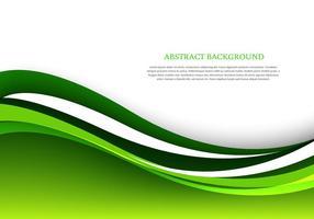 Sfondo verde onda astratta vettore